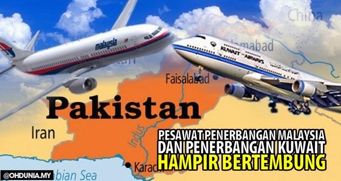 Pesawat MAS hampir bertembung dengan pesawat Kuwait Airlines
