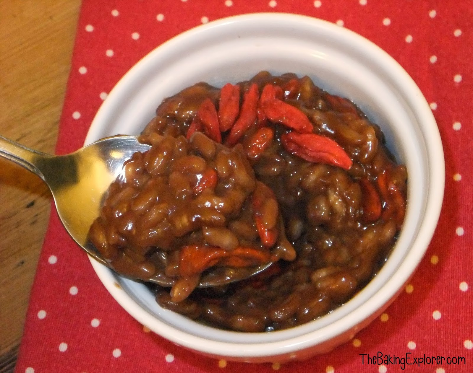 The Baking Explorer: Chocolate & Goji Berry Risotto