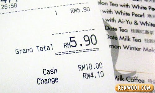 bubble tea price