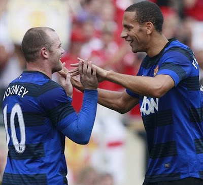 Rooney Ferdinand Chicago Fire vs Manchester United