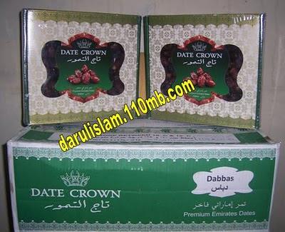 Kurma DATE CROWN - Dabbas  dari United Arab Emirat.