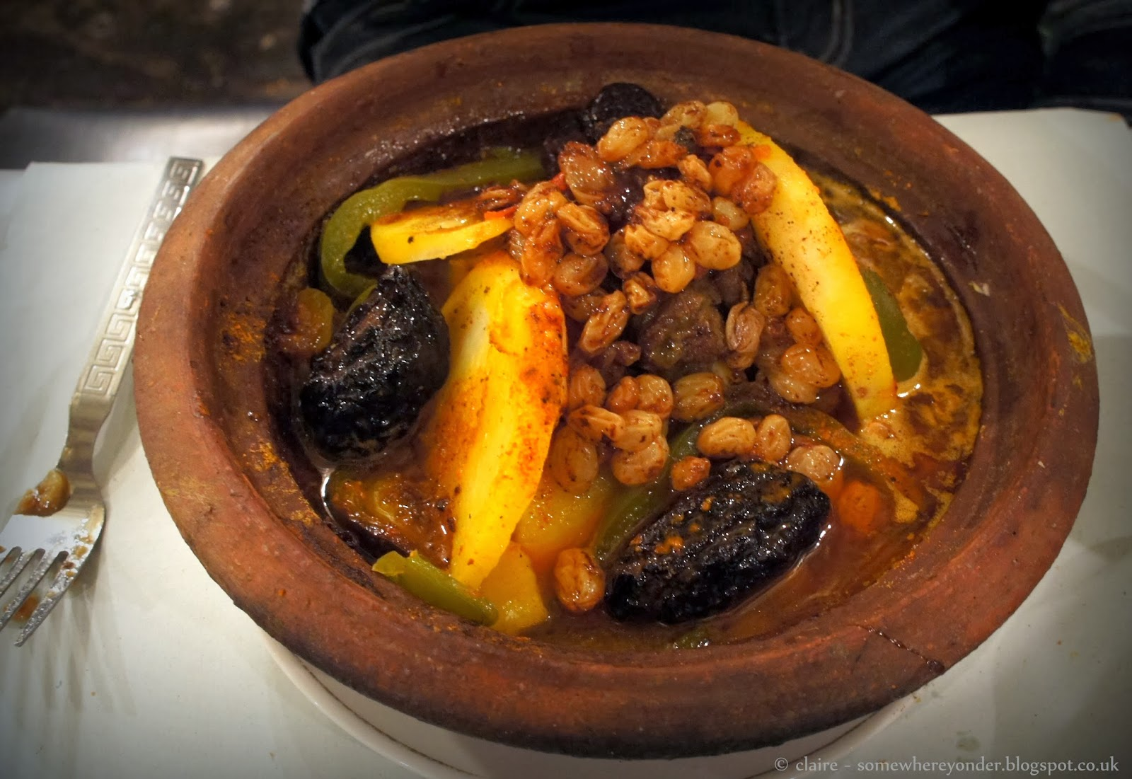 Moroccan tagine at Djemaa El-Fna Marrakech