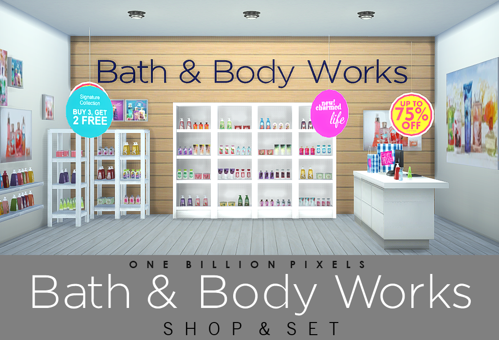 Bath body works shop and set fixed one billion pixels for Bath house shop