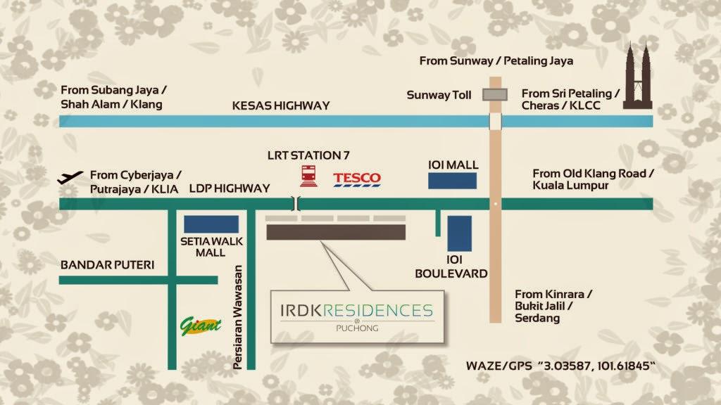 Pusat Bandar Puchong map
