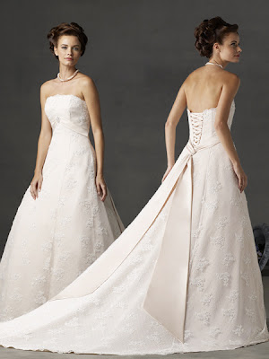 Classic+Ivory+Strapless+Tube+Top+Designer+Lace+Princess+Wedding+Dress