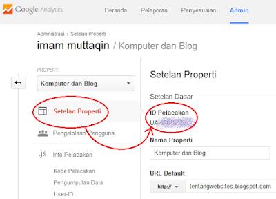 Cara memasang kode google analytics pada blog