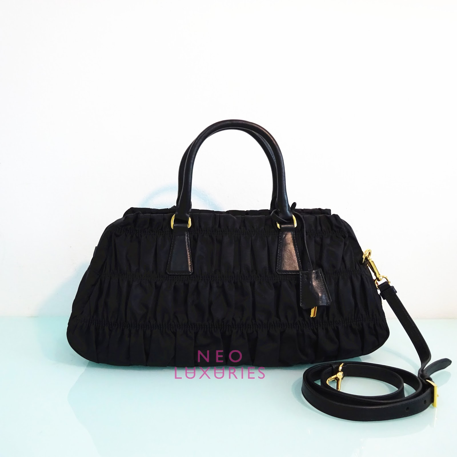 Neo LUXuries: SOLD: PRADA Tessuto/Nappa Gaufre\u0026#39; Small Top Handle ...