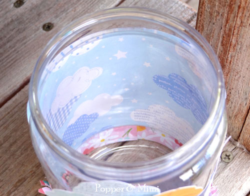 Upcycled bug jar cloud background | popperandmimi.com