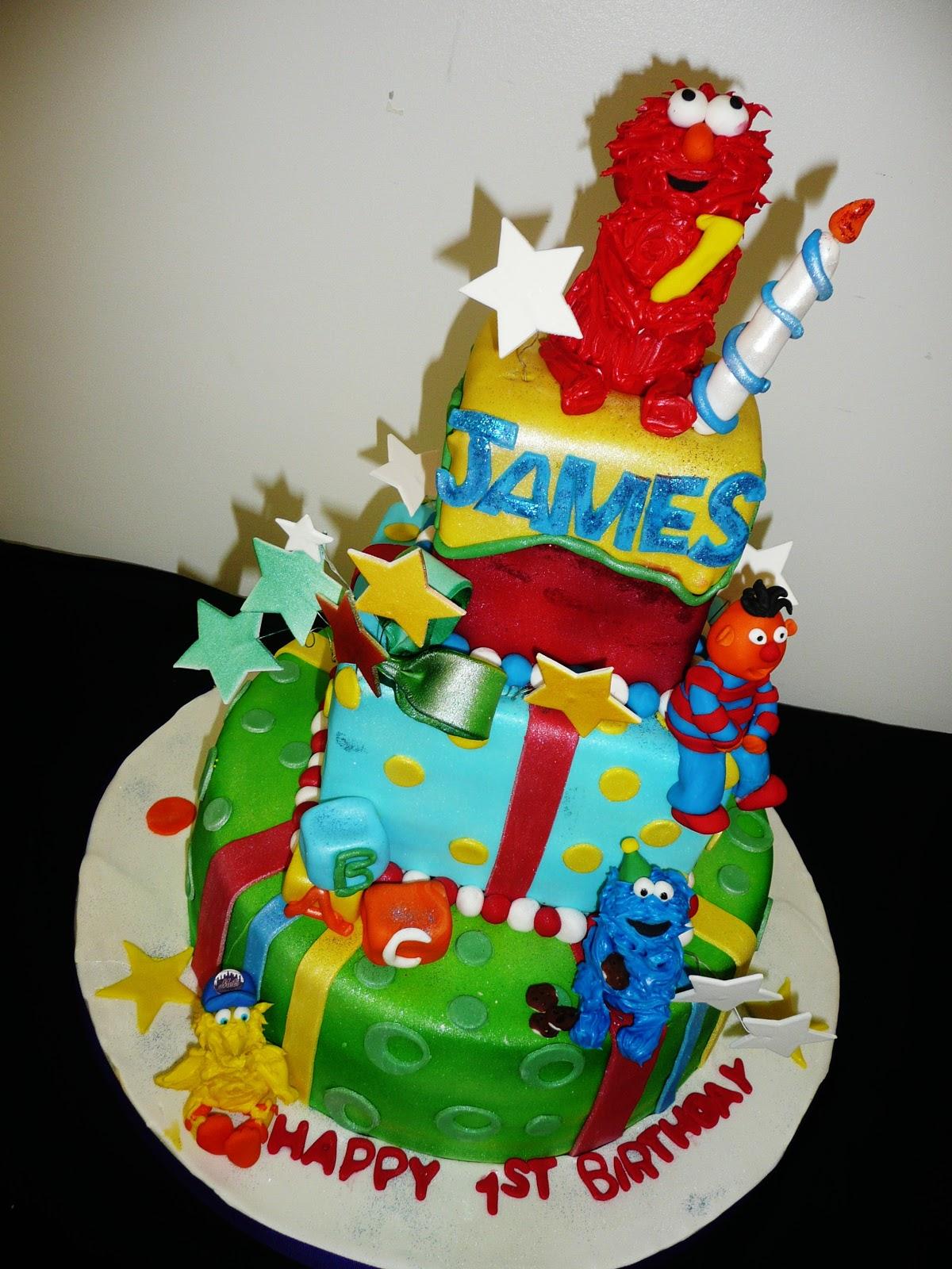 Baking With Roxanas Cakes 1st Birthday Elmo Themed Cake