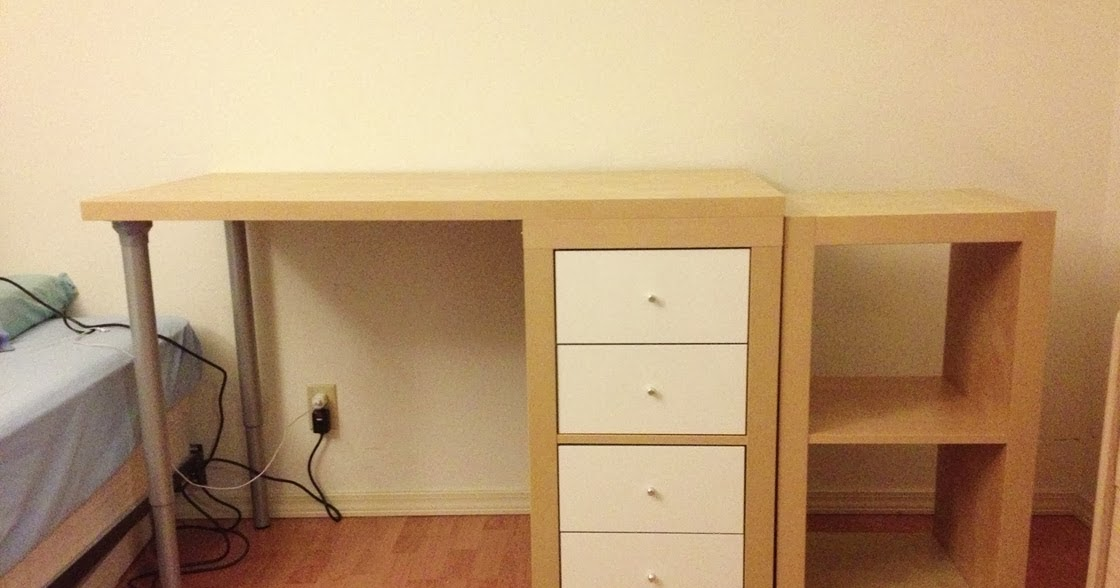 J N Taylor And Co Building A Custom Ikea Desk From An