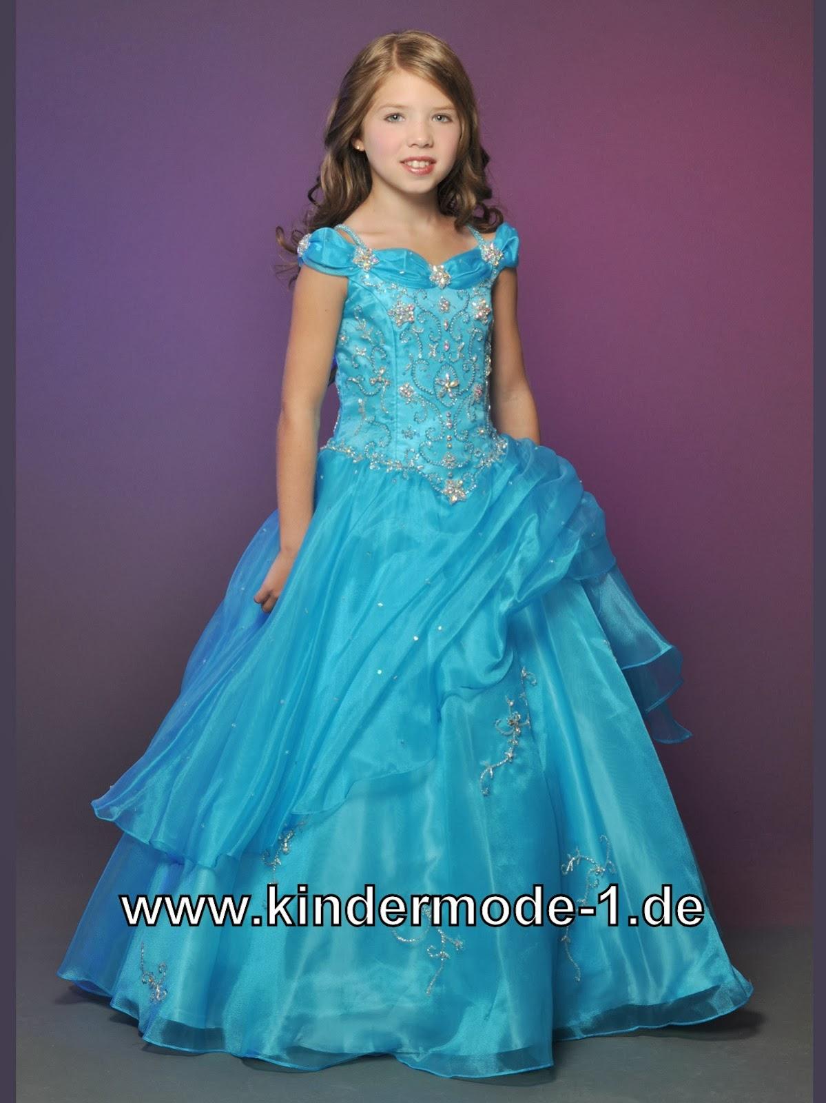 Traumhaftes sissi mädchen kleid in blau