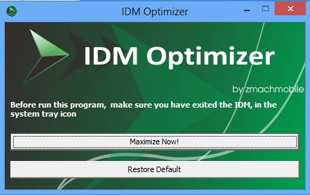 Hướng dẫn tối ưu IDM với 1 cú click chuột