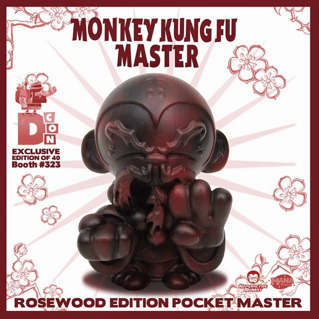 Designer Con 2014 Exclusive Rosewood Edition Pocket Monkey Kung Fu Master by Hyperactive Monkey