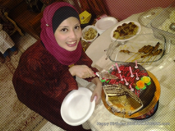 Happy Birthday Adibah Karimah ke 26 drp Hasbi Harun premium beautiful