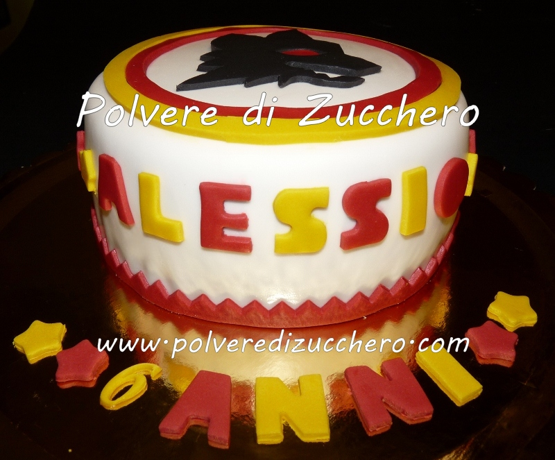 Fornitura Cake Design Roma : Torta della Roma per un piccolo tifoso Polvere di ...