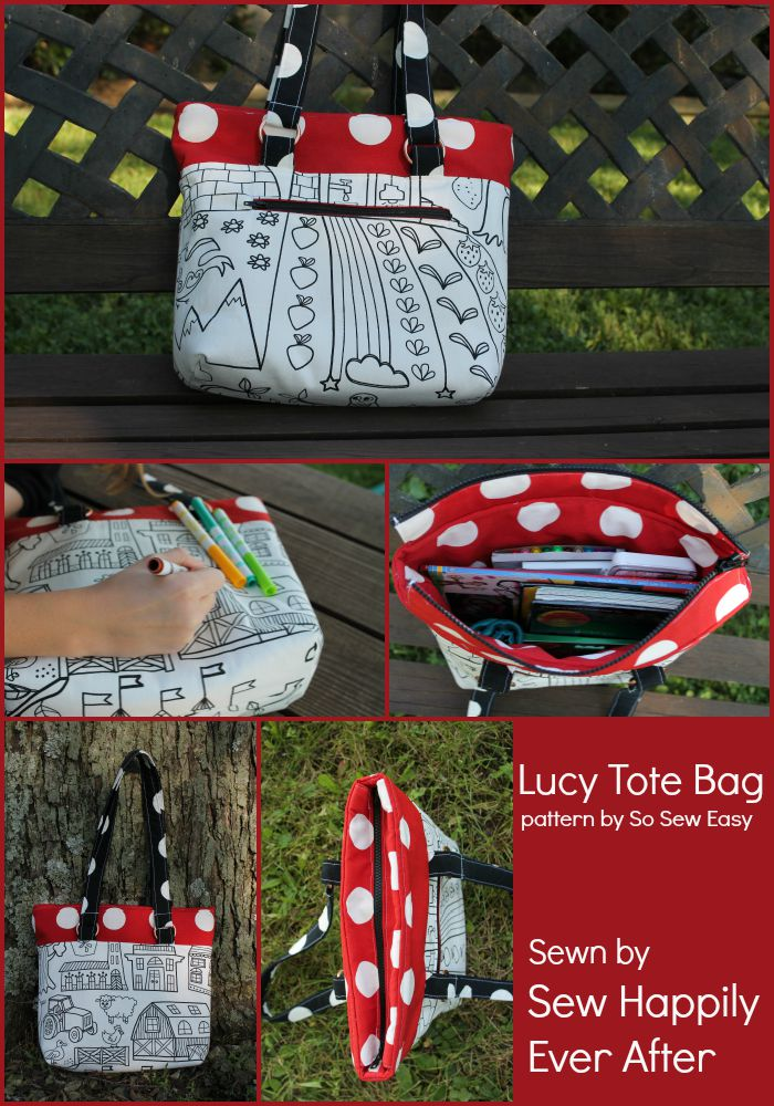 Lucy Tote Bag sewing pattern review – UpCraft Club