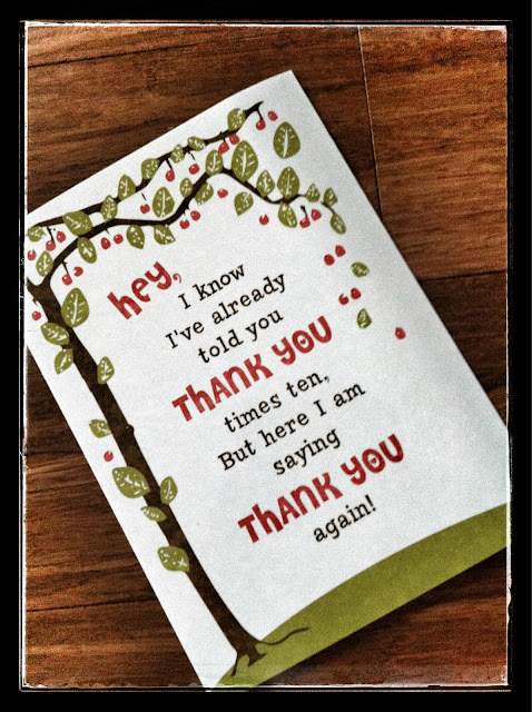 tree thank you card