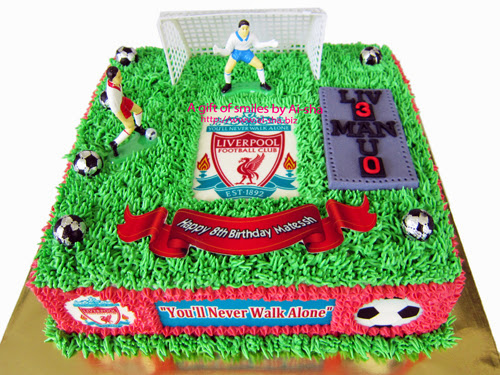 Liverpool Theme Birthday Cake