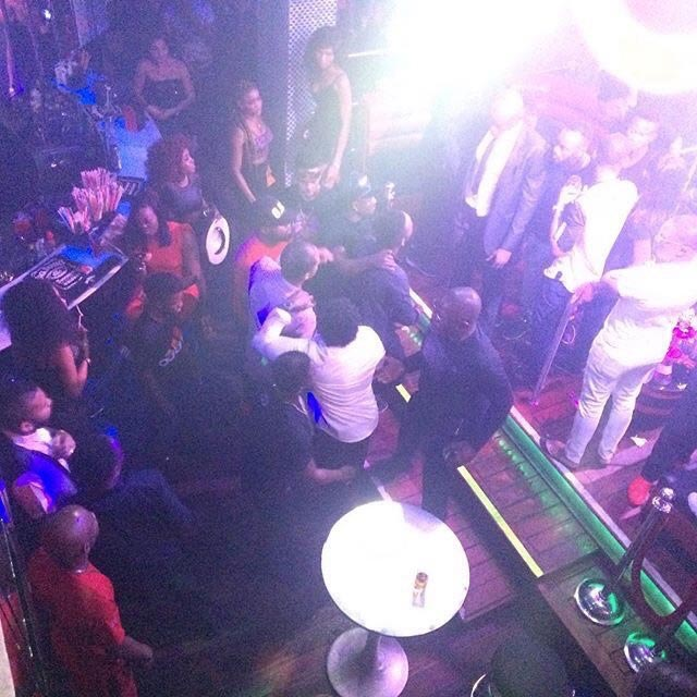 Drama As Wizkid Bursts Dammy Krane's Jaw With A Glass Cup At Quilox Nightclub (Photos)