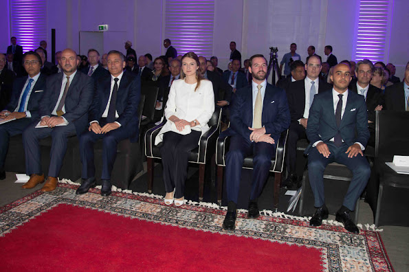 Hereditary Grand Duke Guillaume of Luxembourg and Hereditary Grand Duchess Stephanie of Luxembourg visited Casablanca