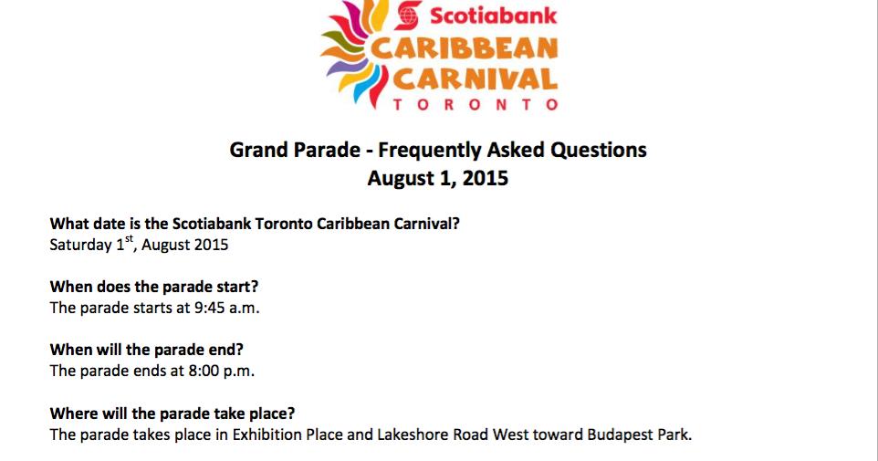 de cocoa pañyol blogspot 2015 toronto carnival grand parade