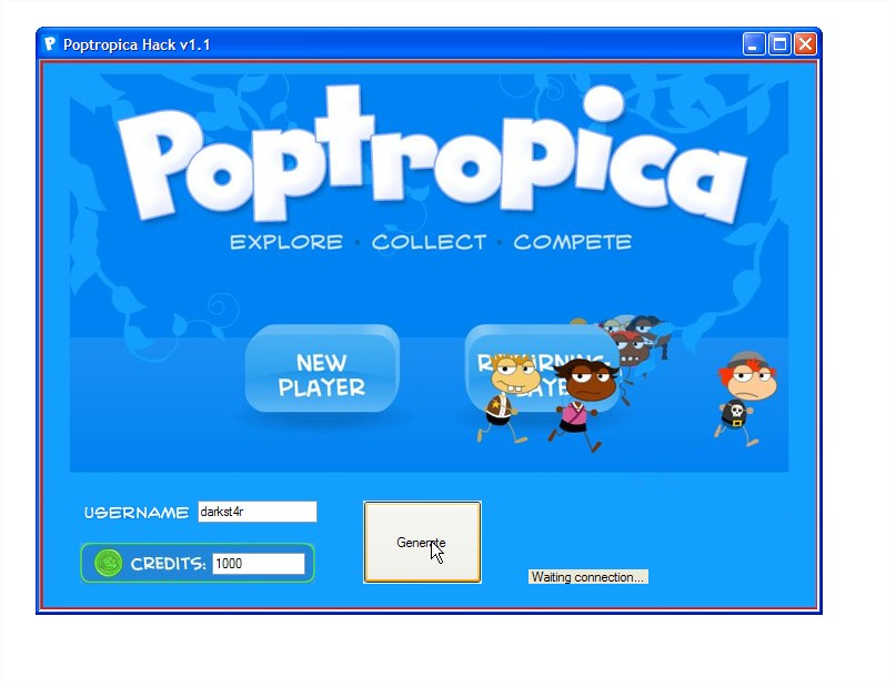 Poptropica Cheats Credits