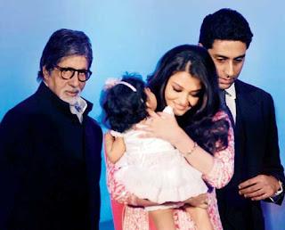Amitabh Bachchan and Aishwarya and Abhishek Bachchan Aaradhya