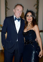 Salma Hayek Hot Cleavage at the Vanity Fair & Gucci Party in Cannes