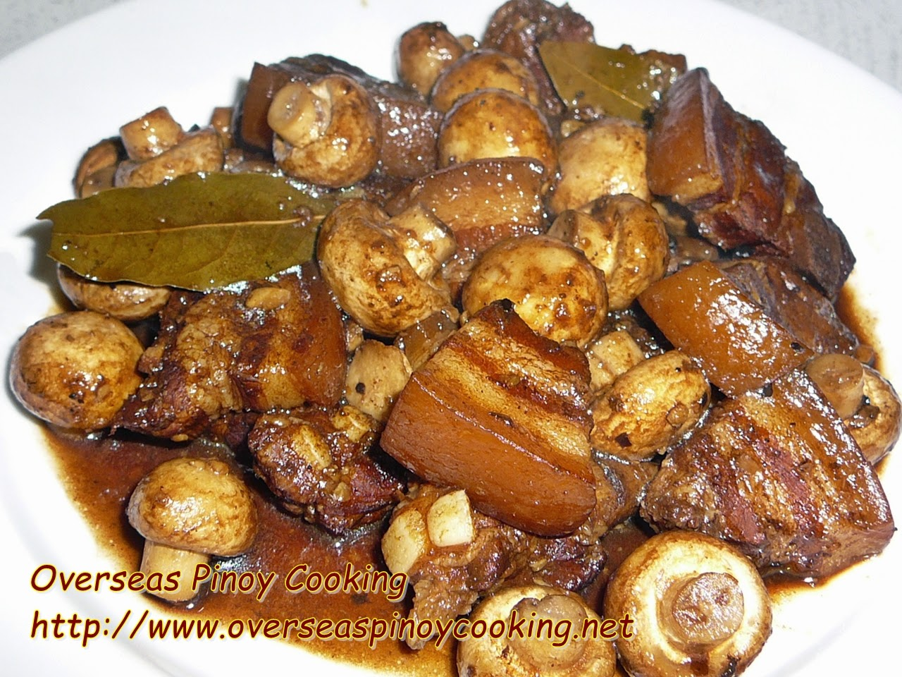 Pork with Mushroom Adobo