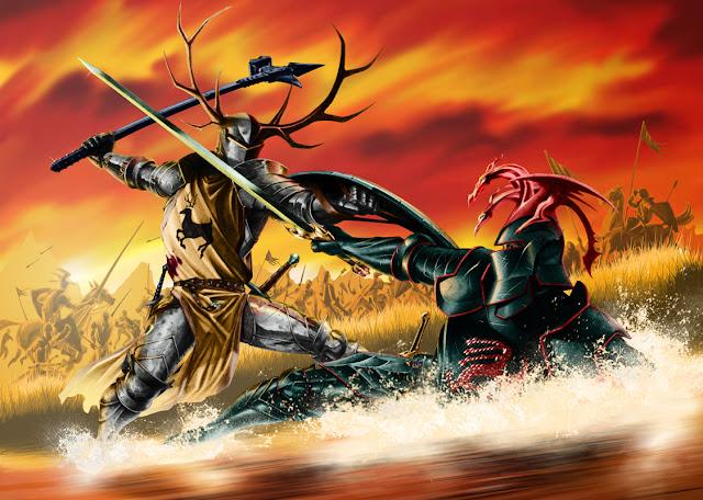 lucha de Rhaegar y Robert en el tridente - Juego de Tronos en los siete reinos