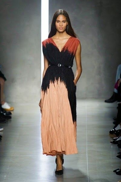Bottega Veneta 2014 Spring Burnt Red Nero Palazzo Refine Ramie Cotton Mohair Embroidered Dress 20 Looks