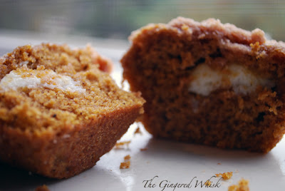 Pumpkin Cream Cheese Muffins - The Gingered Whisk
