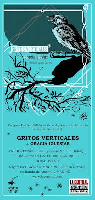Gracia Iglesias Gritos Verticales La Central MNCARS Museo Nacional Centro de Arte Reina Sofía Cangrejo Pistolero ediciones recital poesía performance