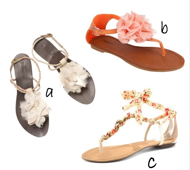 Style delights flat sandals for summer take your pick hydranga white flower sandals 56 topshop mightylinksfo