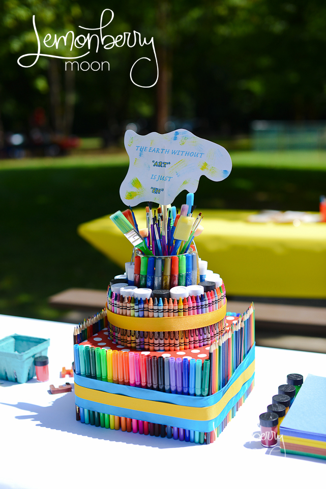 Cake Art Supplies : PARTY FEATURE Art Themed Birthday Party