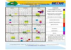 Calendário de Formação