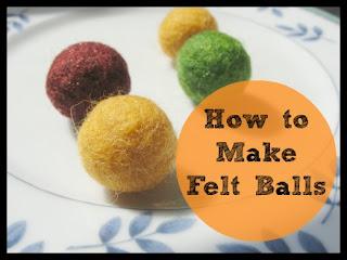 how to make felt balls. Black Bedroom Furniture Sets. Home Design Ideas