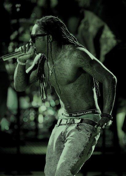 Foto do Lil Wayne no Acústico MTV