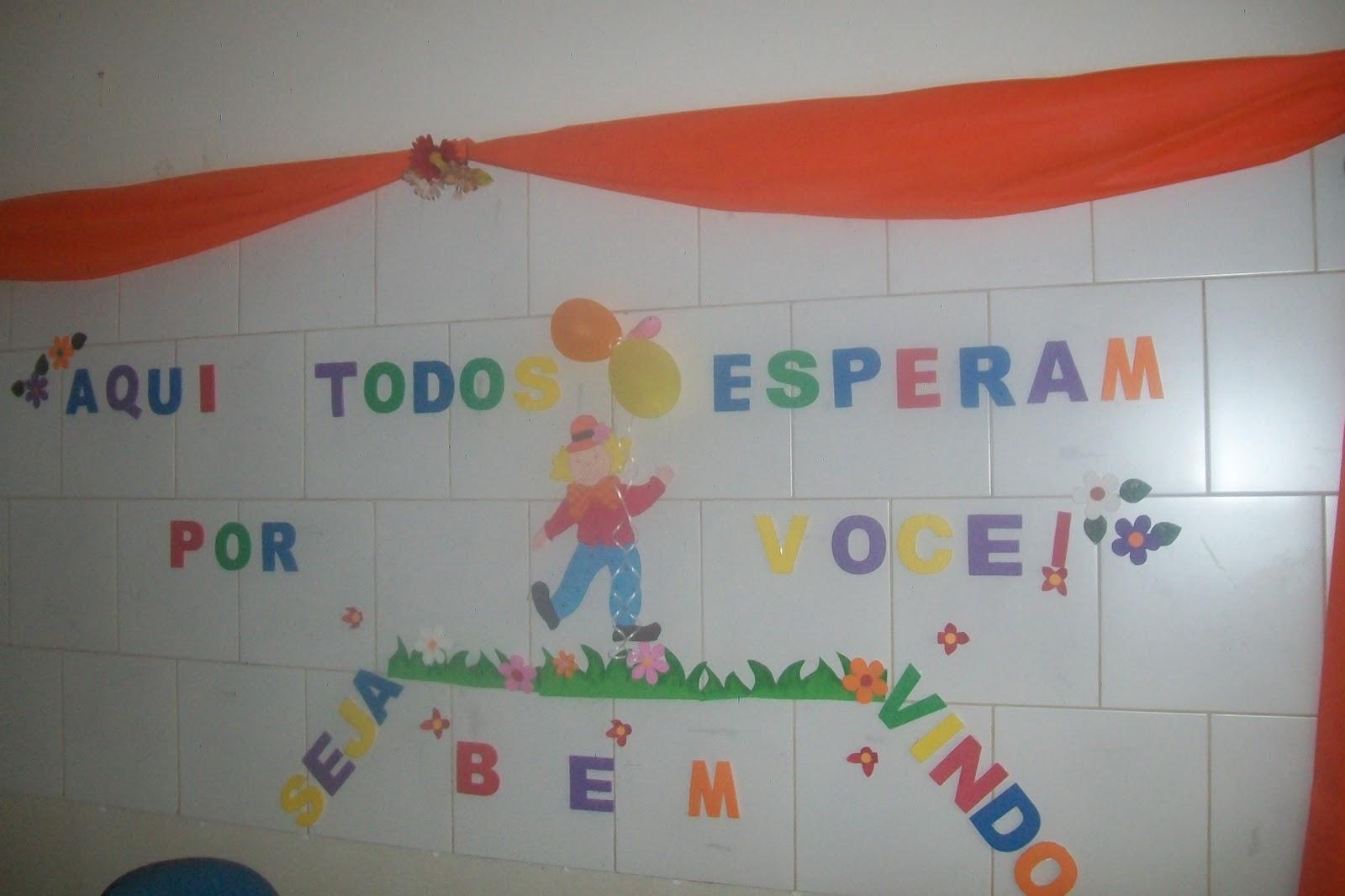Salas Para Receber Os Seus Alunos  Im  O O Mural De Boas Vindas