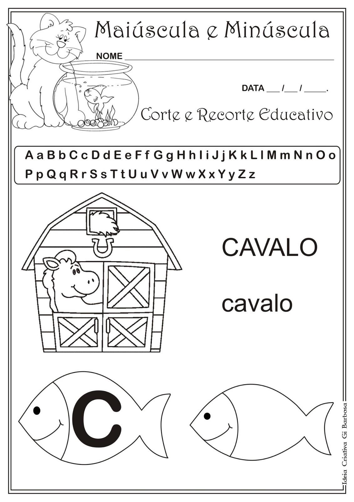 Famosos Caderno de Atividades Grátis para imprimir - Corte e Recorte  HV66