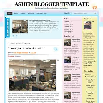 Ashen blogger template. clean and minimalist blogspot template. download free blogger template