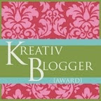 Kreative Blogger Award...Thank you!