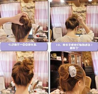 Cara mengikat rambut panjang