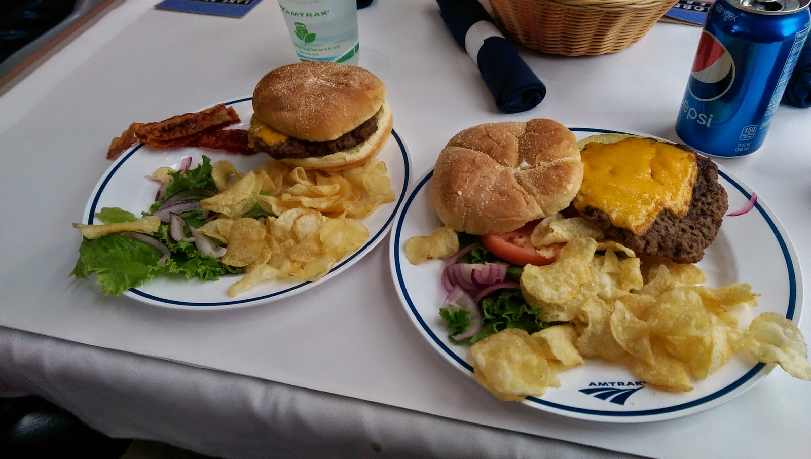 Lunch on Amtrak train