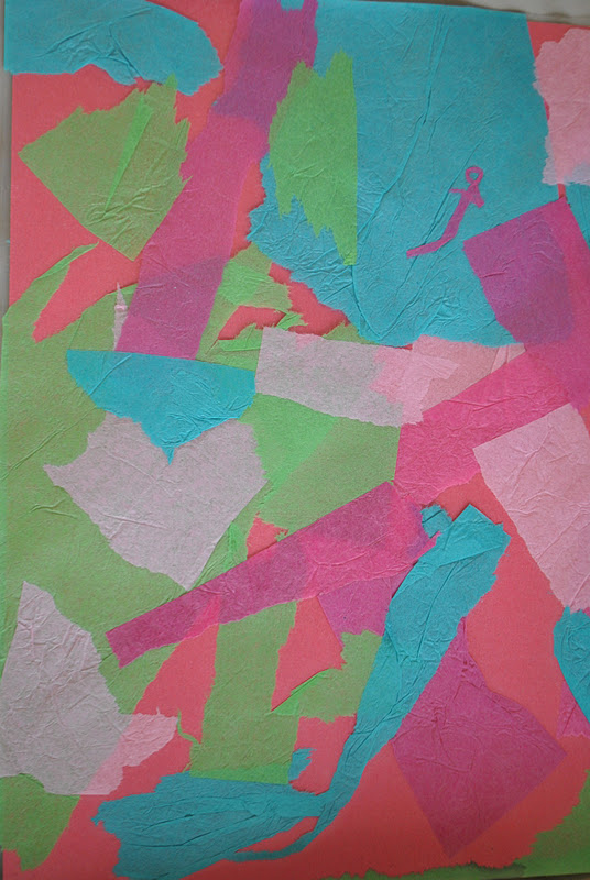 art projects with tissue paper