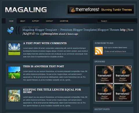 Magaling Blogger Theme