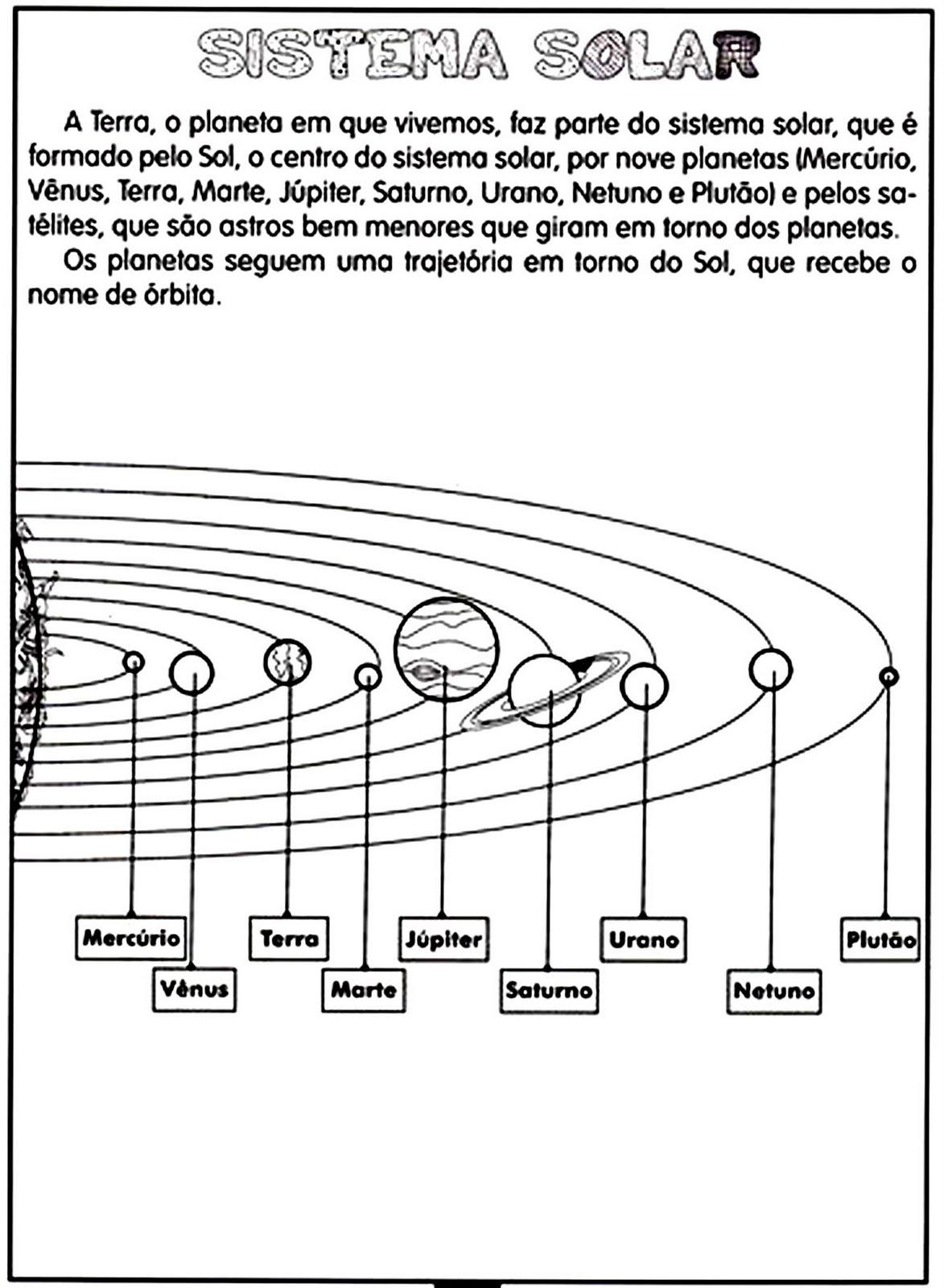 Fabuloso EDUCARE: Atividades - Sistema solar NY16