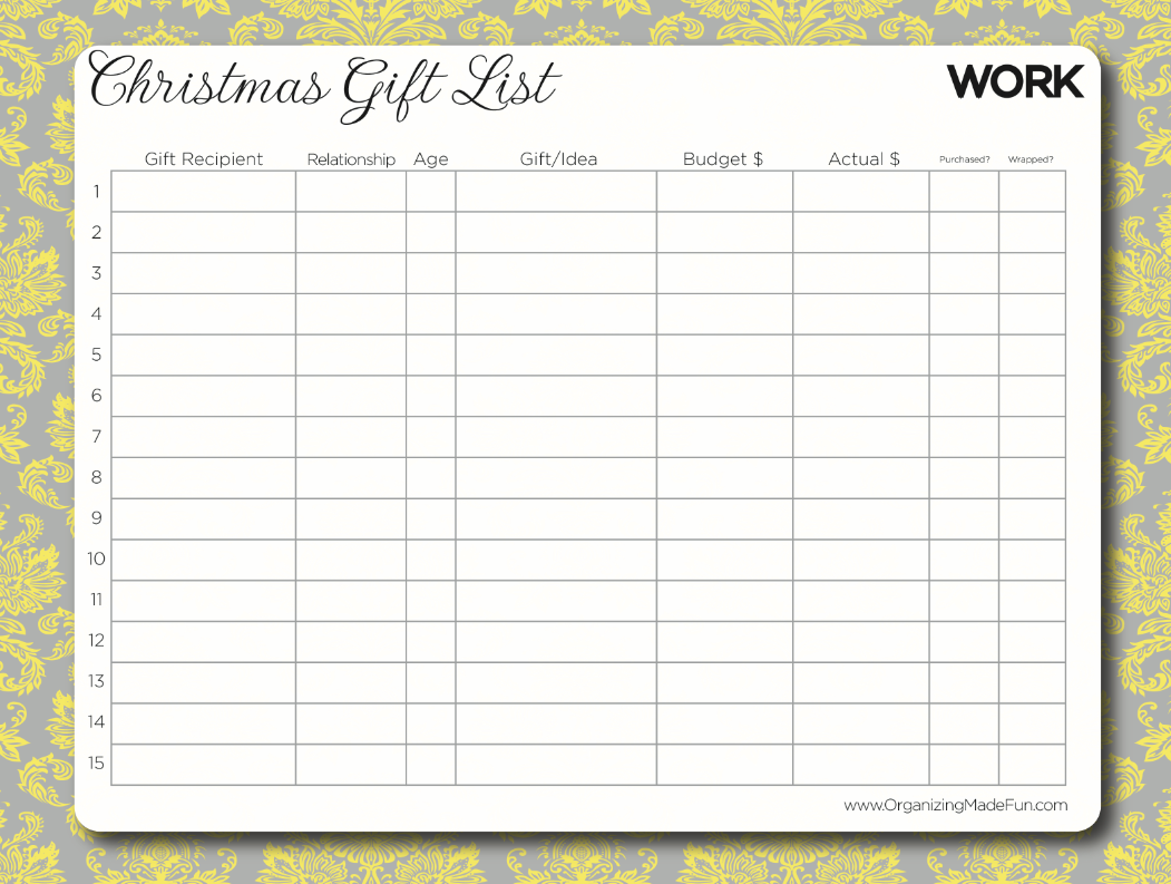 Having an organized Christmas and YOUR free gift – Christmas Checklist Template