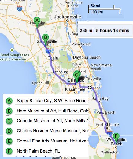 How Far Is Orlando From Palm Beach Fl