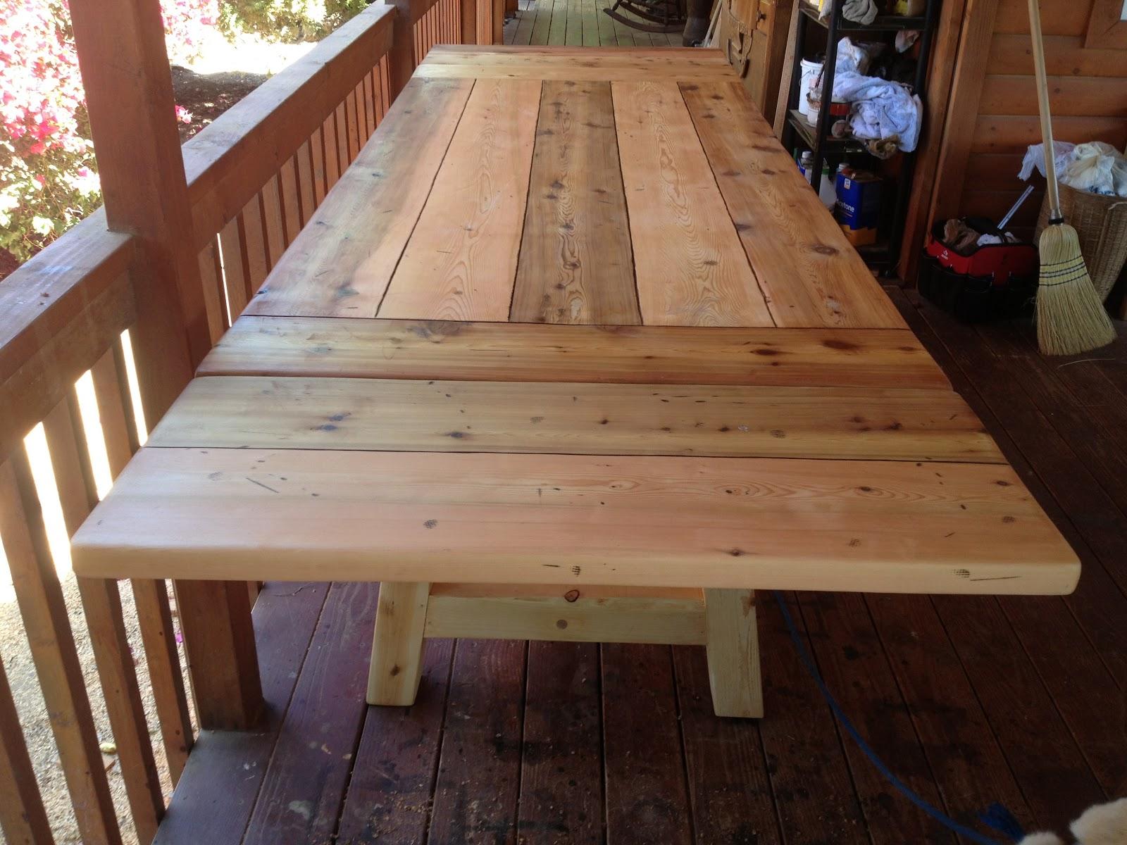 The Polish Carpenter 10 Foot Long Cedar Table With